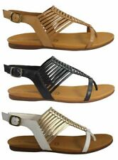 Women's Buckle Ankle Casual Leather Sandals & Flip Flops