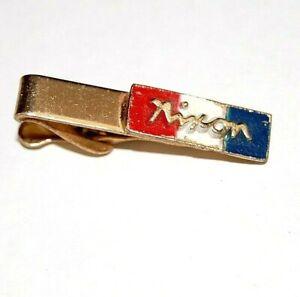 1968 RICHARD NIXON TIE CLASP bar campaign  pinback button political presidential