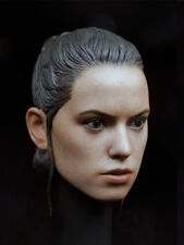 1/6 Daisy Ridley Custom Head Sculpt For Star Wars Rey Hot Toys Phicen Female