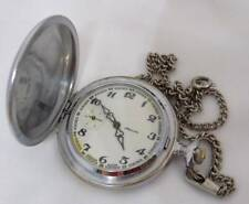 Molnija Molnia Vintage pocket watch Full hunter with chain Russian Soviet USSR