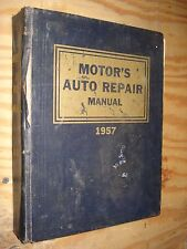 1949-1957 MOTORS SHOP MANUAL DODGE CADILLAC BUICK SERVICE FORD JEEP CHEVY HUDSON