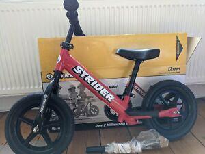 Strider balance bike - Red - 12Sport - Used, Good Condition