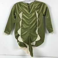Pottery Barn Kids Dinosaur Halloween Costume Green NO HOOD Size 4-6