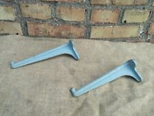 "Cast Iron Shelf Brackets Pair 10"" Vintage HEAVY DUTY STEAMPUNK"