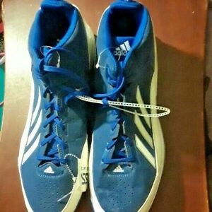 Adidas Men's Baseball Blue White Metal Cleats Size 13 NEW
