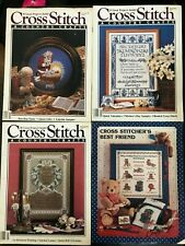 Lot Of 4 Cross Stitch Magazines Over 80 Projects!