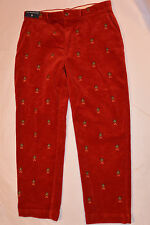 NEW RALPH LAUREN POLO RED CORDUROY PANTS! EMBROIDERED WITH CREST! NWT! 36x30