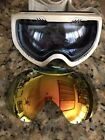 VonZipper VZ Feenom White Snow Board Ski Goggles Gold Chrome & Bonus Blue Lens