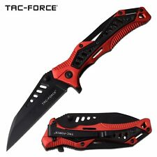 Spring-Assist Folding Knife | Tac-Force Black Wharncliffe Blade Edc Tactical Red
