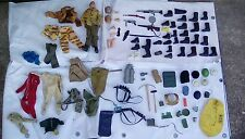 Vintage 1960's 70's Action Man Army Military Clothes Hats Weapons Etc Job Lot +