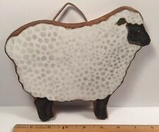 Victoria Littlejohn Ceramics Blackface Sheep Rustic Trivet Or Wall Hanging