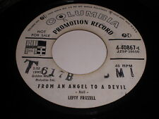 Lefty Frizzell: From An Angel To A Devil / Now That You Are Gone 45