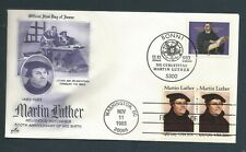 US Stamps FDC / MARTIN LUTHER #2065 / ArtCraft Cachet (Purple) / 1983
