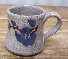 Old Time Pottery Winthrop Washington Blue Flower Mug Cup 1989 D