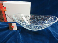 RCR Home and Table Laurus Oval Centerpiece Crystal NIB