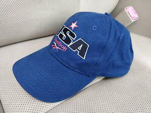 Reebok USA Team 90's Vintage Mens Womens Hat Cap Classic Unisex Hype Baseball