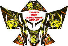 SKI DOO SNOWMOBILE WRAP REV,XP, XR,XS,XM MXZ  99-16 CYBER DECAL STICKER