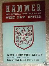 1969 Football League WEST HAM UNITED v WEST BROMWICH ALBION, 23 Aug