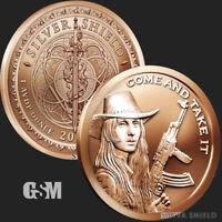 1 oz Come and Take It .999 Copper Round - Silver Shield 2020 Firearms 2nd Amend*