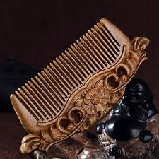 Sandalwood Comb Anti-static Beard Hair Comb Fine Tooth Natural Handmade Carving