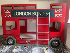 Julian Bowen Double Decker Red London Bus Kids Bunk Bed Frame