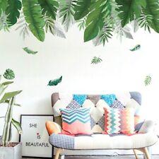 Summer Green Leaf Wall Sticker Background Living Room Art Home Remov Hot