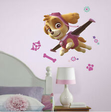 PAW PATROL SKYE wall stickers MURAL 10 decals girl puppy dog female pup