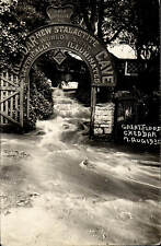 Cheddar. Great Flood 1930. Only Entrance to Cheddar Cave.