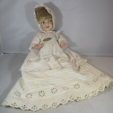 Antique 30cm Franz Schmidt Sprayed Bisque-Head Character Baby Doll Flirty Eyes