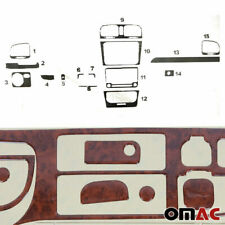 Wooden Design Dashboard Console Trim Cover Kit 15 Pcs For VW Golf Mk6 2010-2014