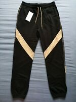 Ninety Percent Women's Black Camel Track Trousers Size M Medium New With Tags