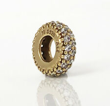 PANDORA Pave Inspiration Zirconia Spacer 18K Gold Vermeil 791359CZ Authentic