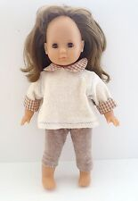 "Max Zapf Colette 16"" Doll Brunette With Brown Sleepy Eyes 1995 Germany"