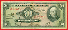 Mexico 1973 ( 500 Pesos ) World paper money banknotes currency ( Bvb 286 )