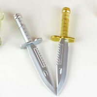 Cool 3pcs Novelty Ballpoint Pen Knife Shape Dagger Writing Instrument Creative