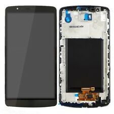 P1 DISPLAY +TOUCH SCREEN +COVER FRAME per LG G3 D855 NERO GRIGIO VETRO CORNICE