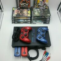 Sony PlayStation PS2 Fat Phat Console Bundle Wireless Controllers Composite Game