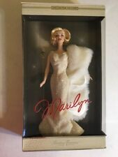 BARBIE Marilyn Timeless Treasures Collector Edition Cream Giltter Gown