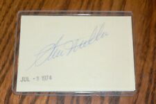 Ron Kline Cardinals, Giants, Orioles signed Cut Autograph