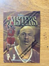 Michael Jordan 1997-98 Topps Finest Masters Gold w coating Rare 154 M31  (1104)