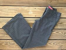 Guess Jeans Authentic Women's Dark Charcoal Plaid Dress Career Pants Size 26 NWT