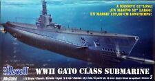 Revell 1/72 USS Gato Class US Submarine WWII Kit #85-0384 Sealed Inside