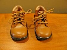 Minibel Toddler Leather Walking Tan Boots Size 19 Euro Us 3.5