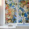 Flower Window Film Print Sticker Cling Stained Glass UV Block Gift Art Decor