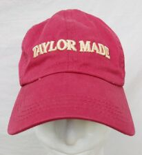 TAYLOR MADE FARM THOROUGHBRED HORSE BREEDER RED STRAPBACK BALL CAP HAT KENTUCKY