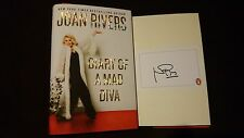 SIGNED Joan Rivers Diary of a Mad Diva HC DJ Book Rare Fashion Police Melissa TV