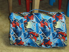 Spiderman print toddler nap mat with fleece blanket-new-handmade