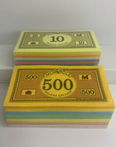 Monopoly Deluxe Edition 1998 Board Game Replacement Money ONLY- Half Is Sealed