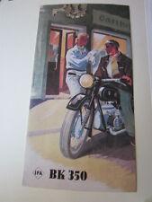 Motorrad Archiv Edition Faksimile 1053E IFA BK 350 ccm KArdan 1952 Prospekt