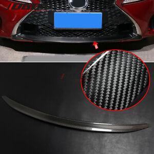 Real Carbon Car Front Grille Bumper Lower Guard Trim For Lexus RC 200T 300 350